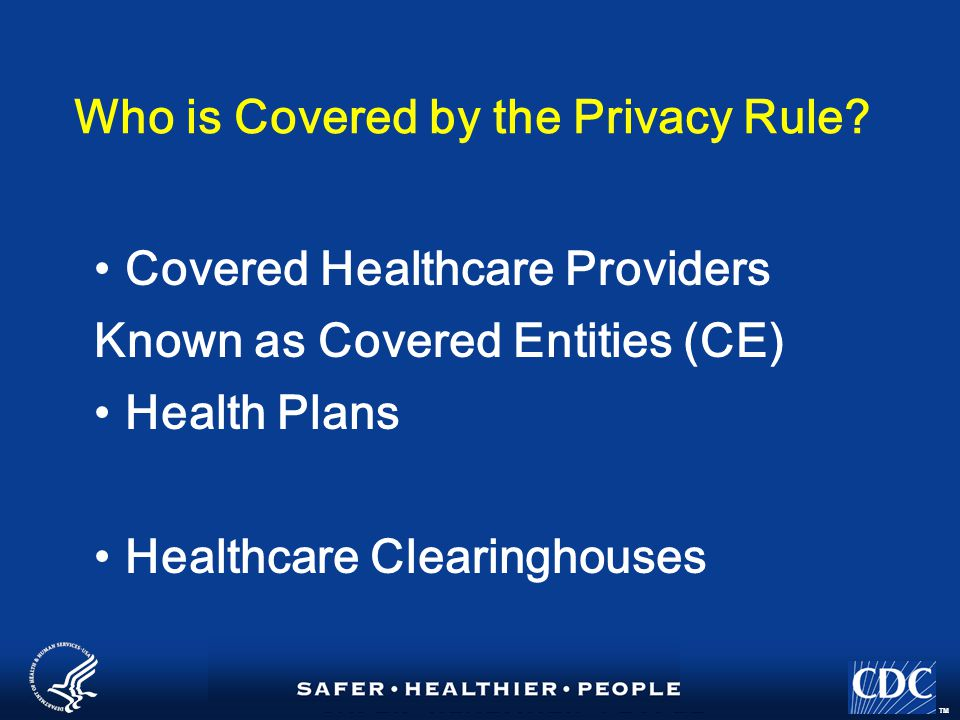 TM Public Heath Authorities that are CE's or Hybrid Entities A university or school that includes an academic medical center's hospital is a CE It may choose to be a hybrid entity via designating the hospital as its health care component