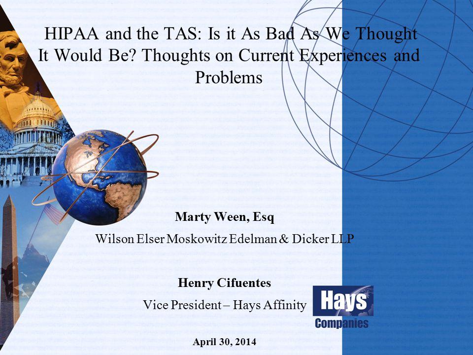 Webinar Agenda ATSI / Hays Program Intro Speaker Intro ATSI / Hays PL Policy Highlights Questions