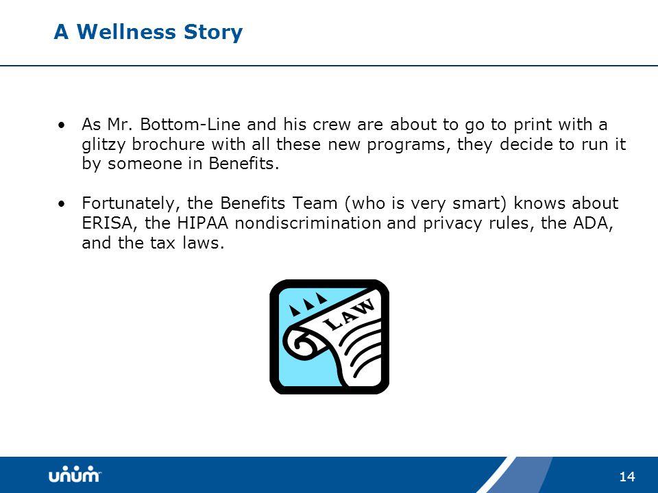 14 A Wellness Story As Mr.