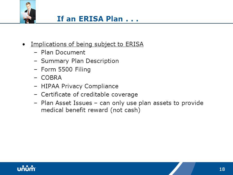 18 If an ERISA Plan...