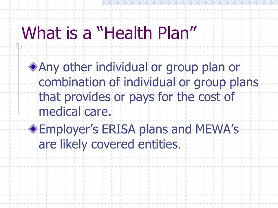 What is a Health Plan Included: Health Health Reimbursement Accounts DentalPrescription / MHSA cave outs VisionSome EPA's