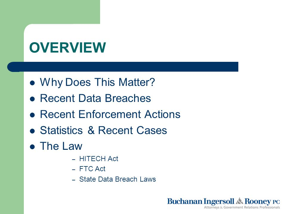 Breach Under the HITECH Act Unauthorized acquisition, access, use or disclosure of unsecured PHI in a manner not permitted by the Privacy Rule Compromises the security or privacy of the PHI Poses a significant risk of financial, reputational or other harm