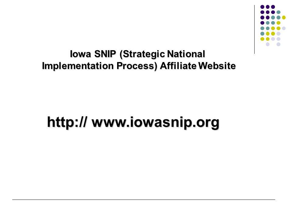 http://snip.wedi.org/ National SNIP (Strategic National Implementation Process) Website