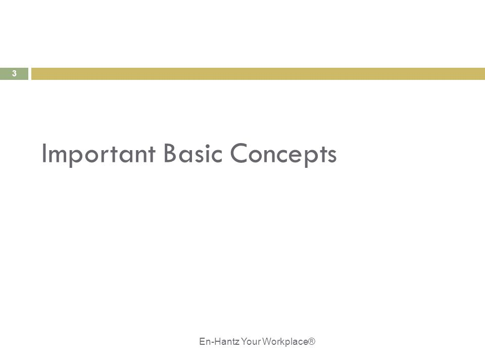 3 Important Basic Concepts En-Hantz Your Workplace®