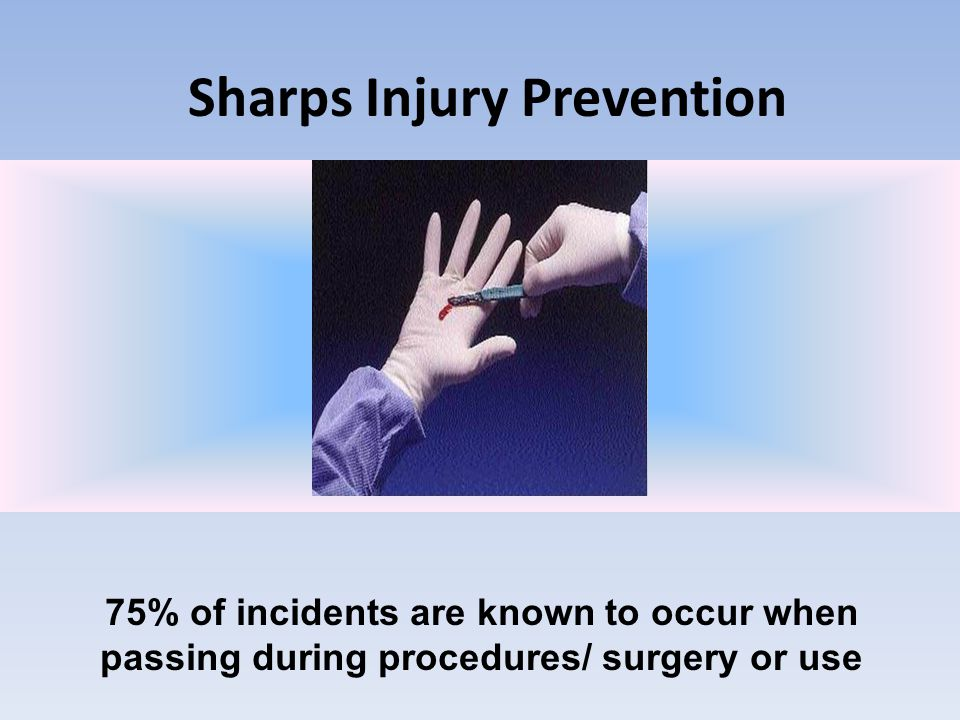 Sharps Injury Prevention Enclosing your sharps in any type of container is always a good idea.