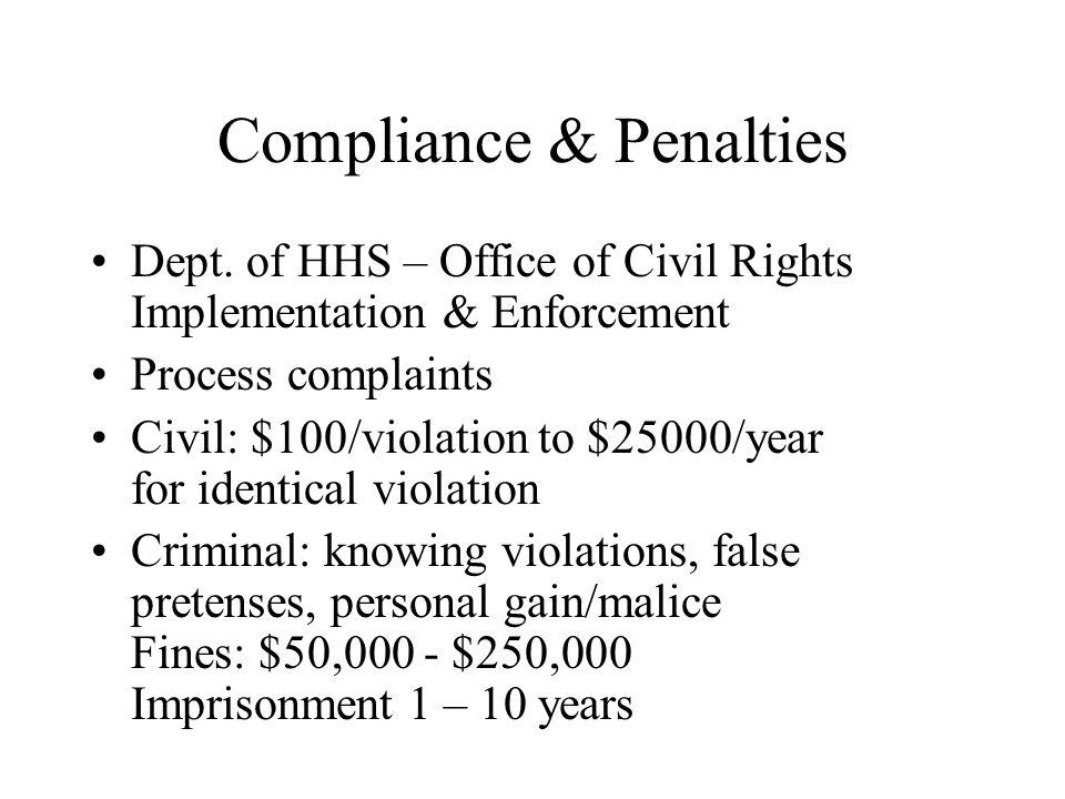 Compliance & Penalties Dept.