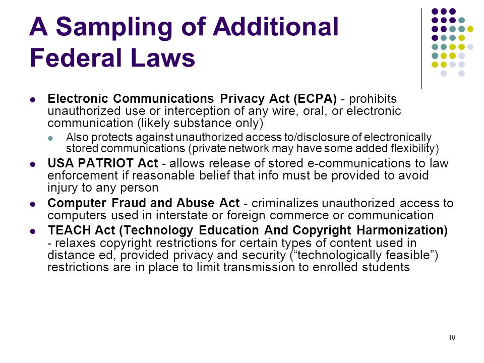 11 Legislation and Liability - Coming soon to a campus near you.