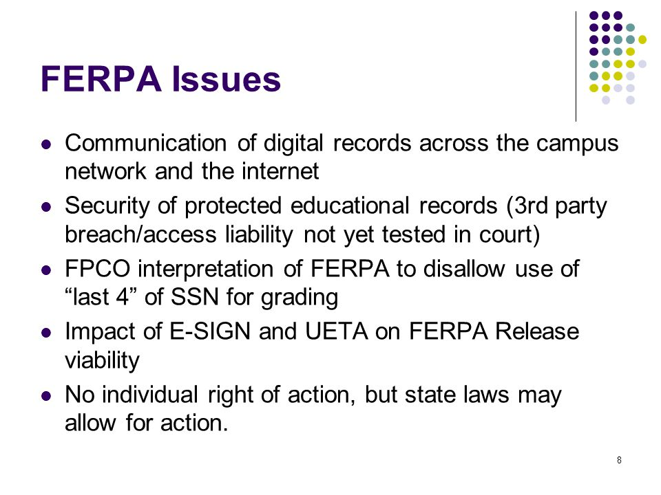 9 HIPAA Security Issues Requirements within each Safeguard category are either Required or Addressable Required safeguards must be implemented Addressable safeguards provide a choice: Implement action Develop an equivalent measure that provides adequate security (equivalency documentation required) Do not implement any action, but document why implementation is not reasonable and appropriate for the organization