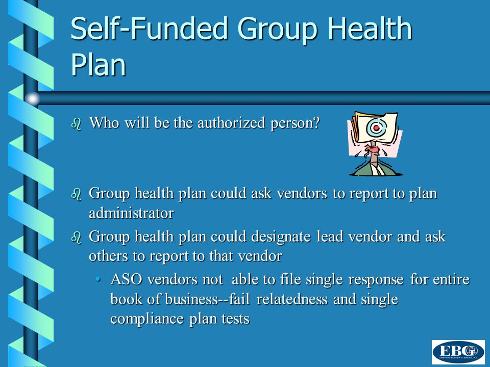 Self-Funded Group Health Plan b Who will be the authorized person.
