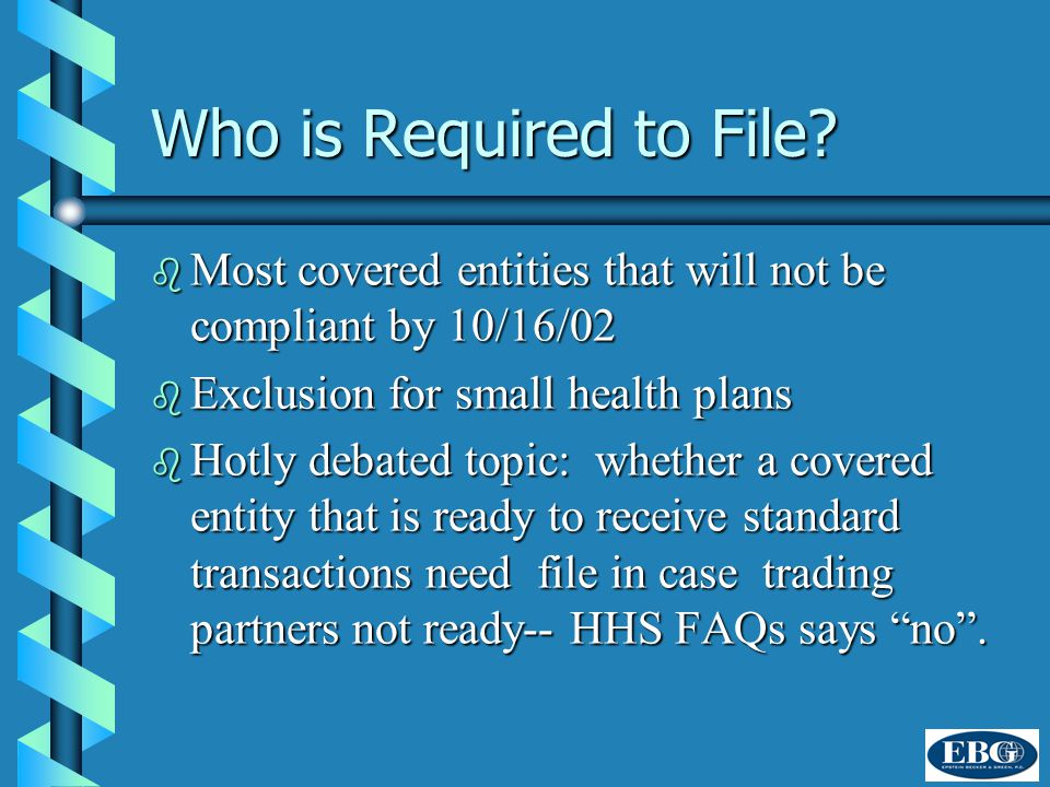 Who is Required to File.