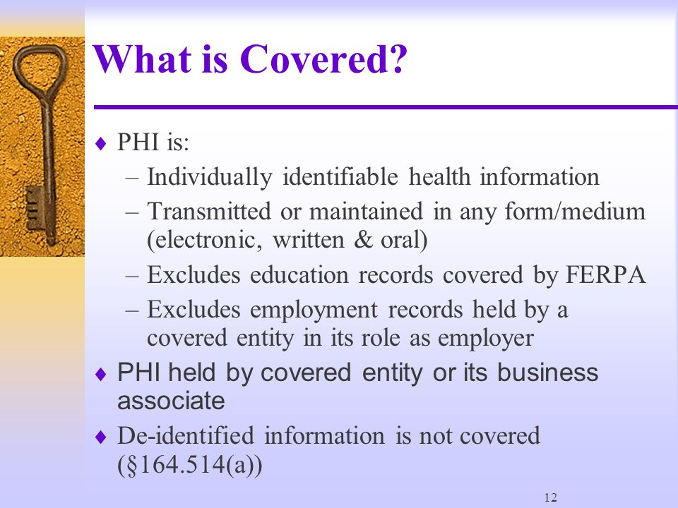 12 What is Covered.