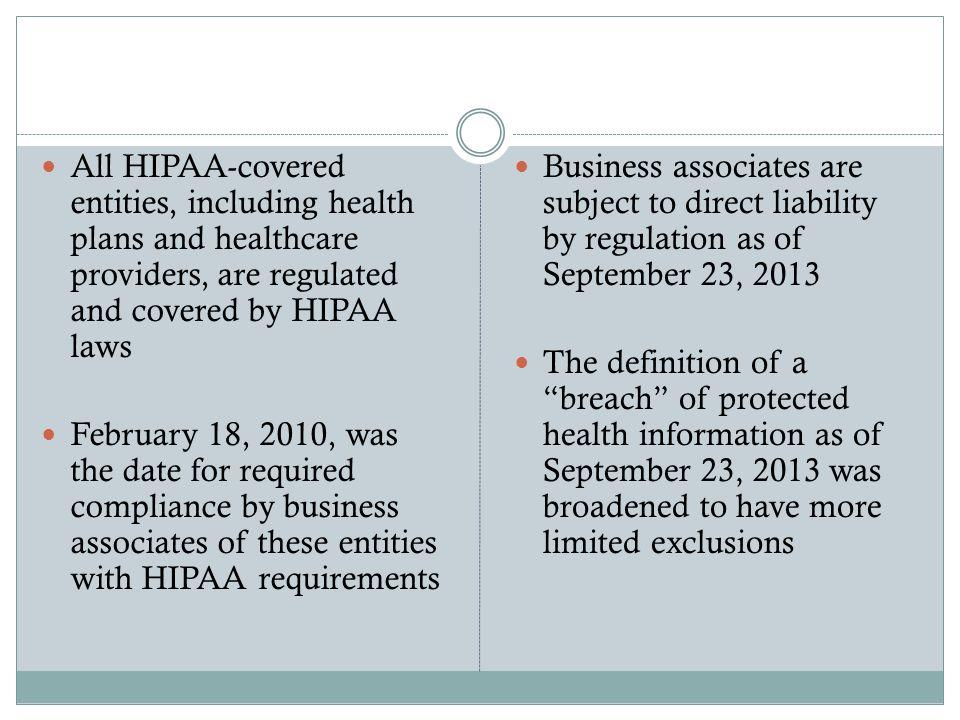 Why HIPAA.