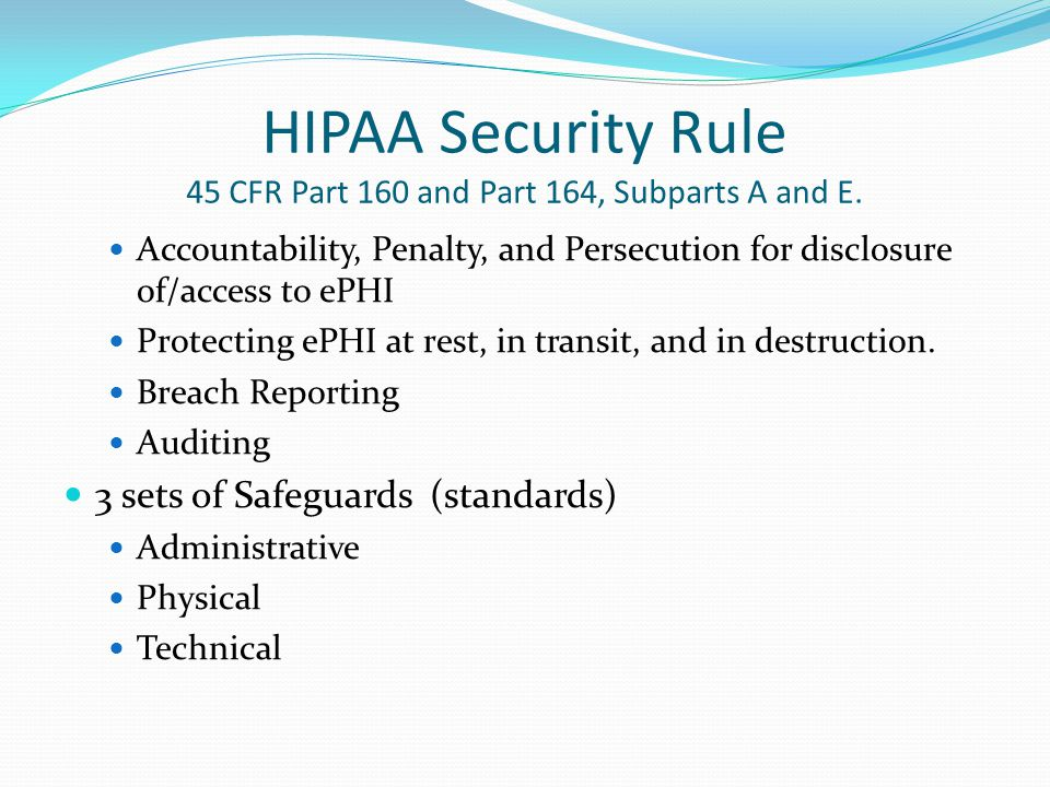 BREACH NOTIFICATION RULE HITECH ACT SECTION 13402 Definition of a Breach .
