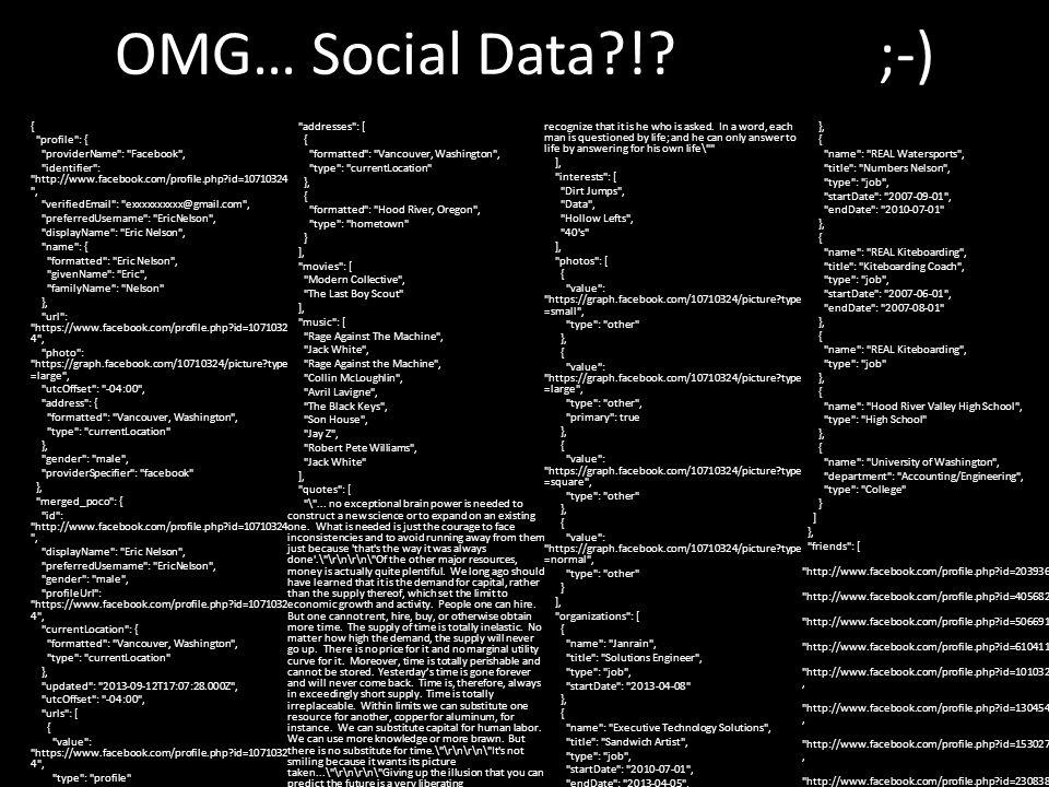 OMG… Social Data !.