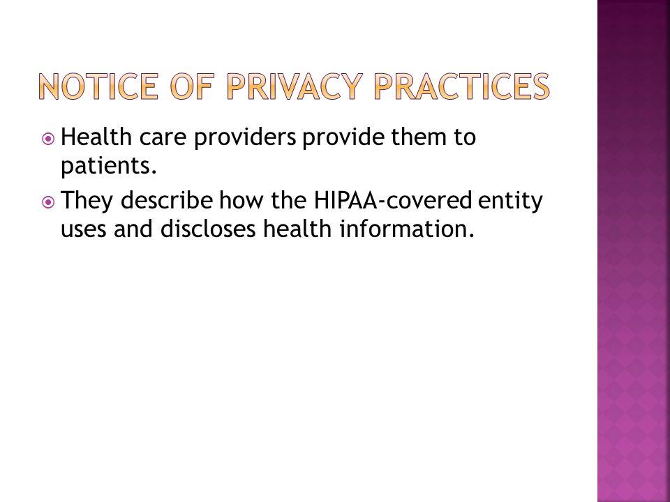 Spot the HIPAA violation (8min) http://www.youtube.com/watch?v=HuEoKsN6R KU The Omnibus Rule (3min) http://www.youtube.com/watch?v=mX- QL9PoePU HIPAA Training for Caregivers (23min) http://www.youtube.com/watch?v=VpxkRKH60 fk
