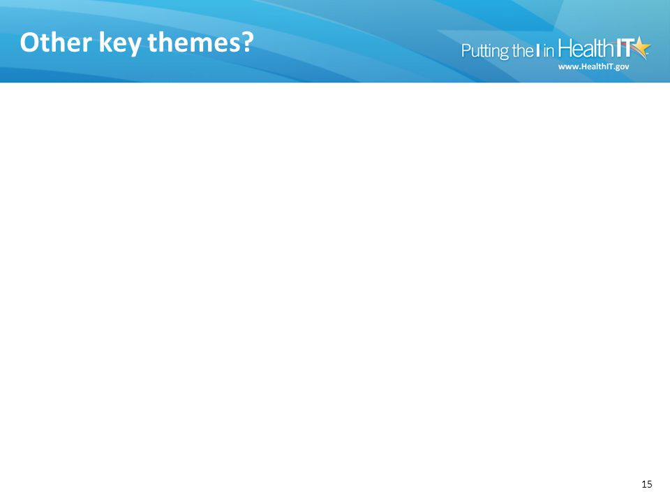 Other key themes 15
