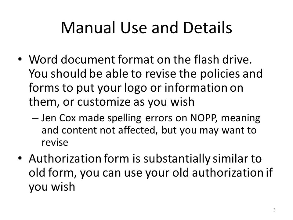 Manual Use and Details Word document format on the flash drive.