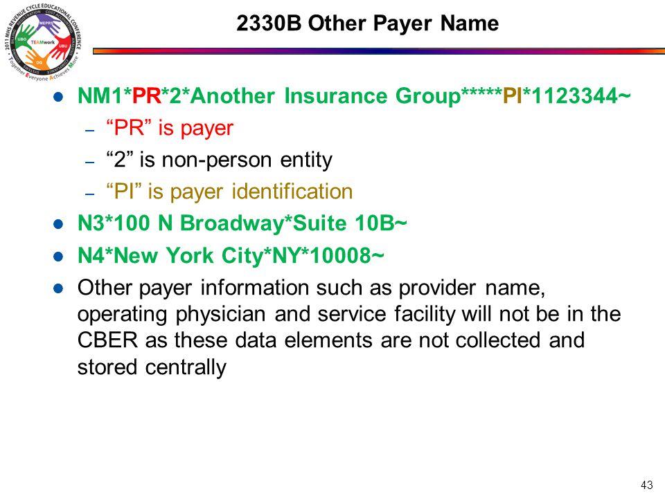 2400 Loops 2400 Service Line 2420C Rendering Provider 2420D Referring Provider 44