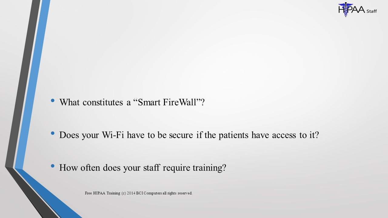 What constitutes a Smart FireWall .