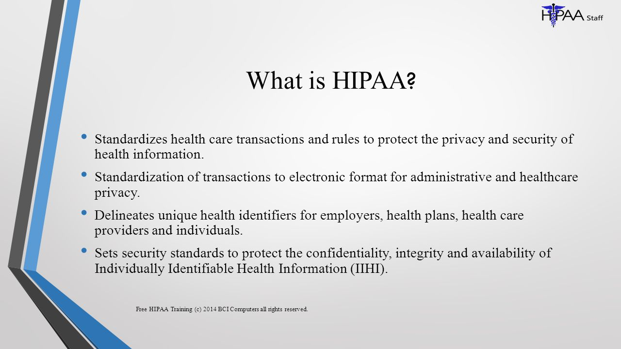 What is HIPAA .