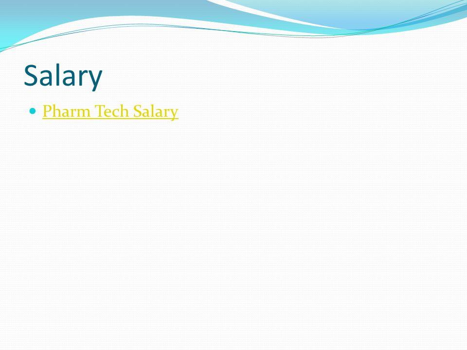 Salary Pharm Tech Salary