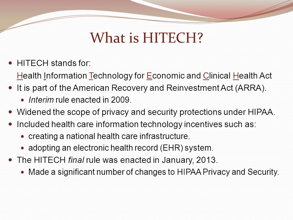 What is HITECH.
