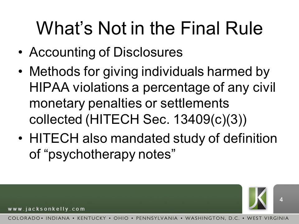 3 Final HIPAA Omnibus Rule What Happened.