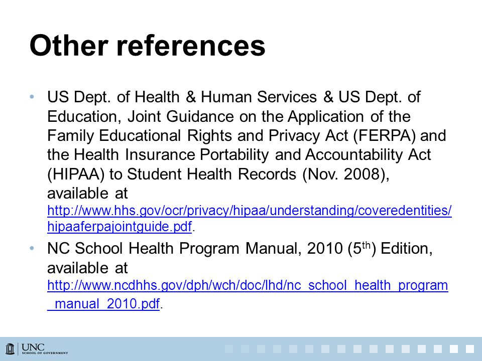 Other references US Dept. of Health & Human Services & US Dept.