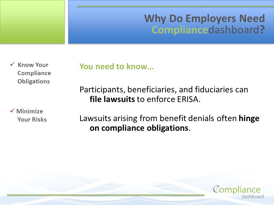 Know Your Compliance Obligations Minimize Your Risks Why Do Employers Need Compliancedashboard .
