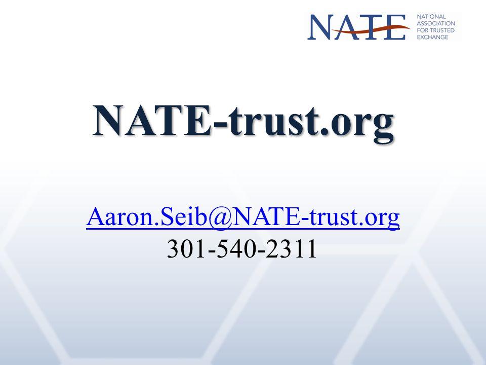 NATE-trust.org Aaron.Seib@NATE-trust.org 301-540-2311