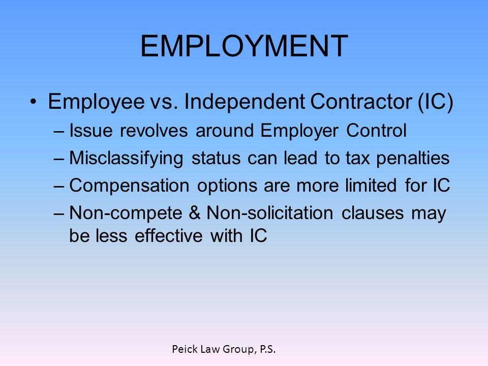 EMPLOYMENT Employee vs.