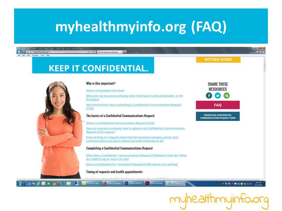myhealthmyinfo.org (FAQ)
