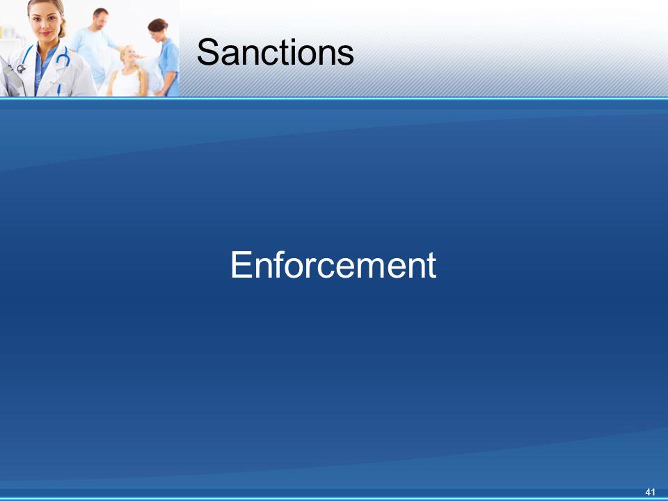 Sanctions Enforcement 41