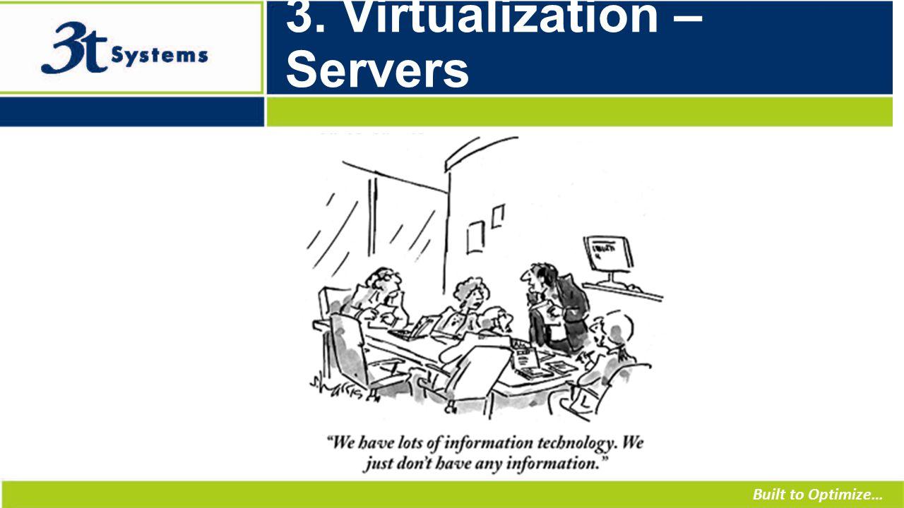 Built to Optimize… 3. Virtualization – Servers