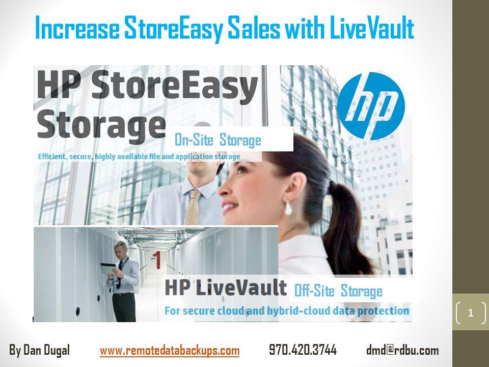 Increase StoreEasy Sales with LiveVault 1 On-Site Storage Off-Site Storage By Dan Dugal www.remotedatabackups.com 970.420.3744 dmd@rdbu.comwww.remotedatabackups.com