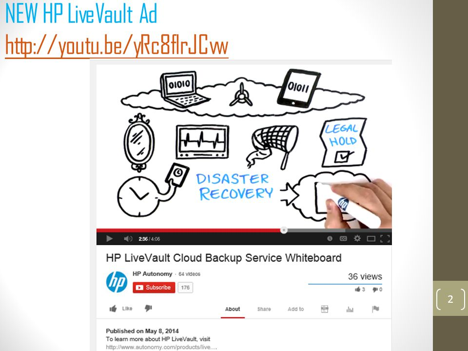 NEW HP LiveVault Ad http://youtu.be/yRc8flrJCvw http://youtu.be/yRc8flrJCvw 2