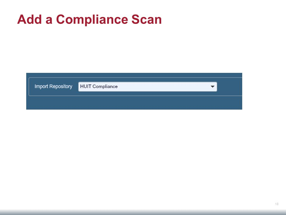 18 Add a Compliance Scan