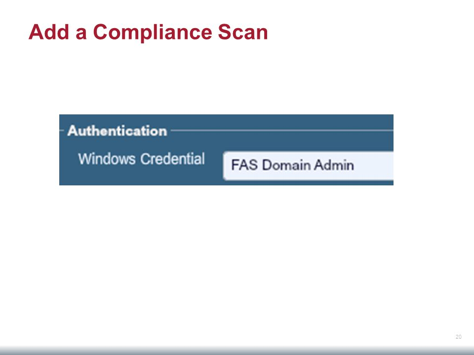 20 Add a Compliance Scan