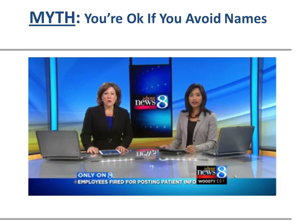 MYTH: You're Ok If You Avoid Names