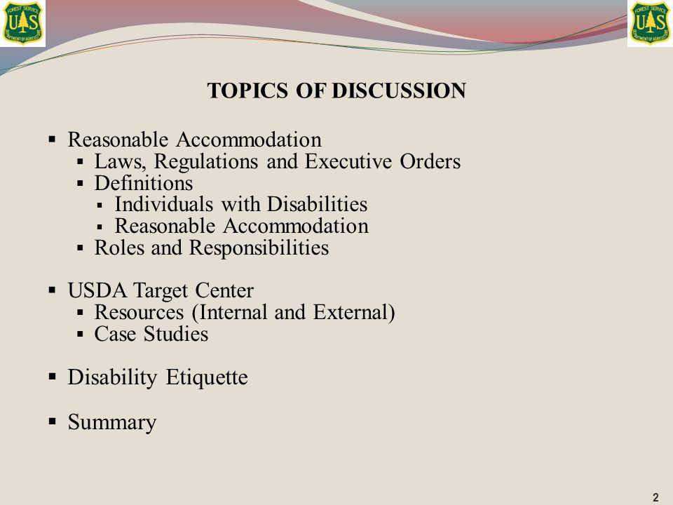  Reasonable Accommodation  Laws, Regulations and Executive Orders  Definitions  Individuals with Disabilities  Reasonable Accommodation  Roles a