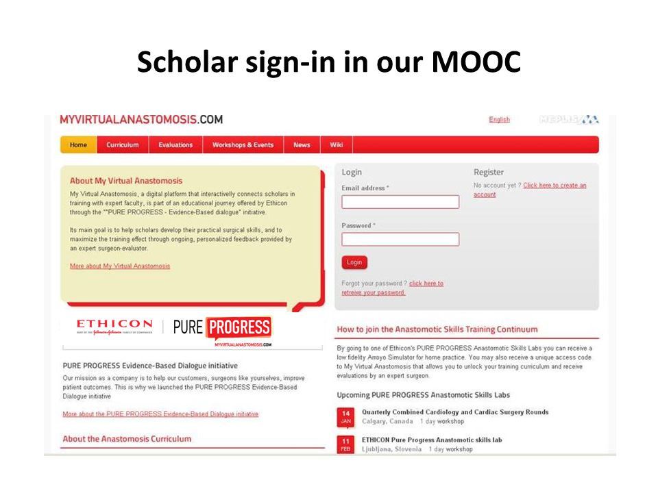 Scholar sign-in in our MOOC