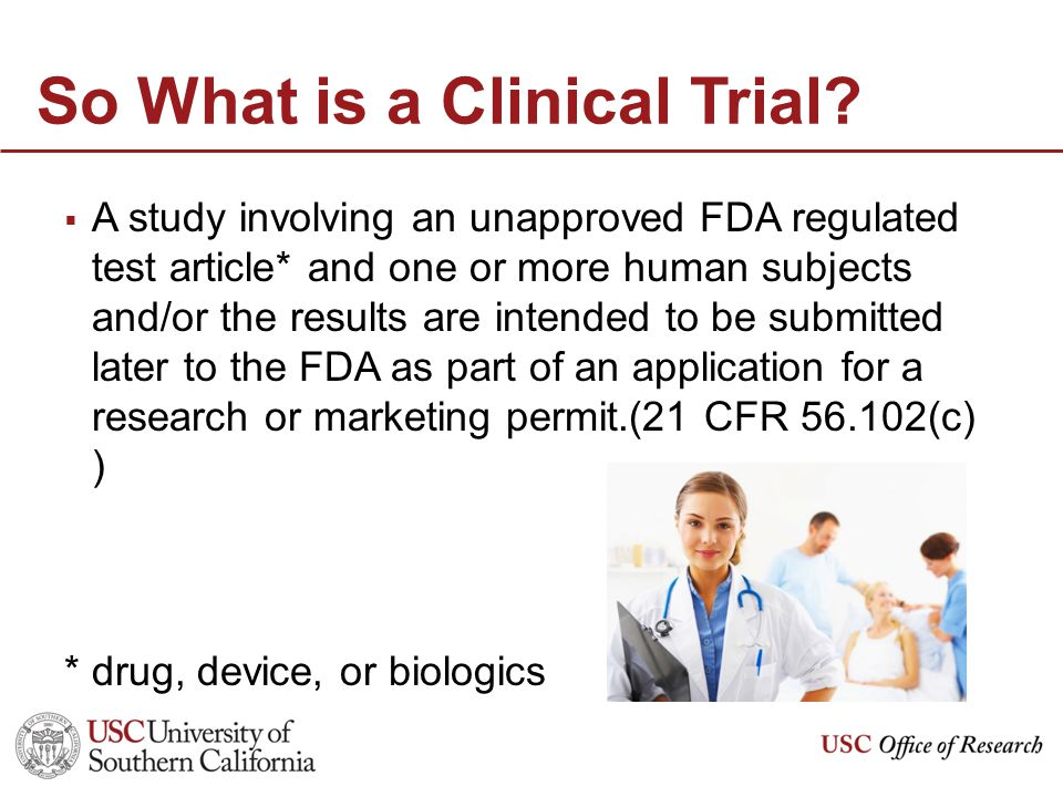 So What is a Clinical Trial.