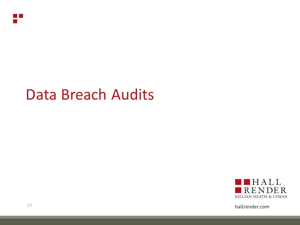 Data Breach Audits 17