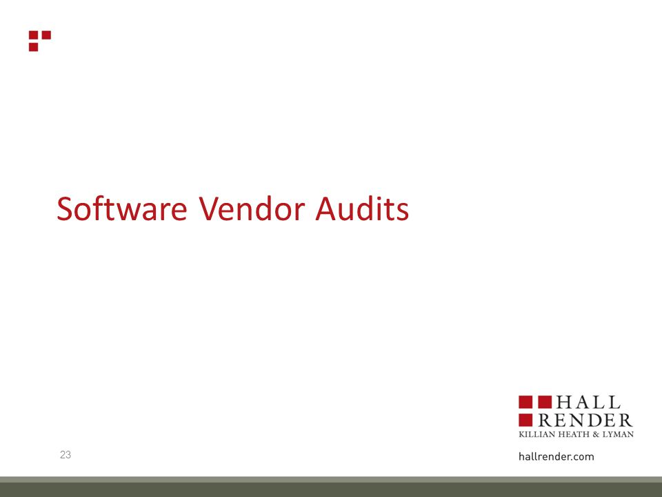 Software Vendor Audits 23