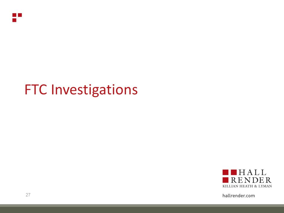 FTC Investigations 27