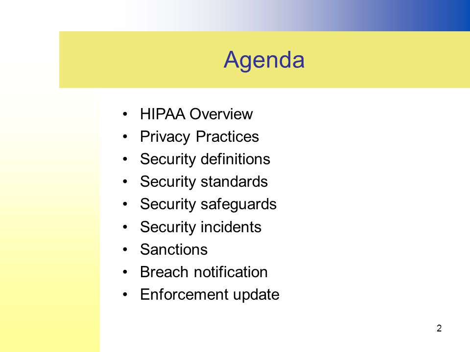 3 Overview of HIPAA We Focus on This Portion of HIPAA only.