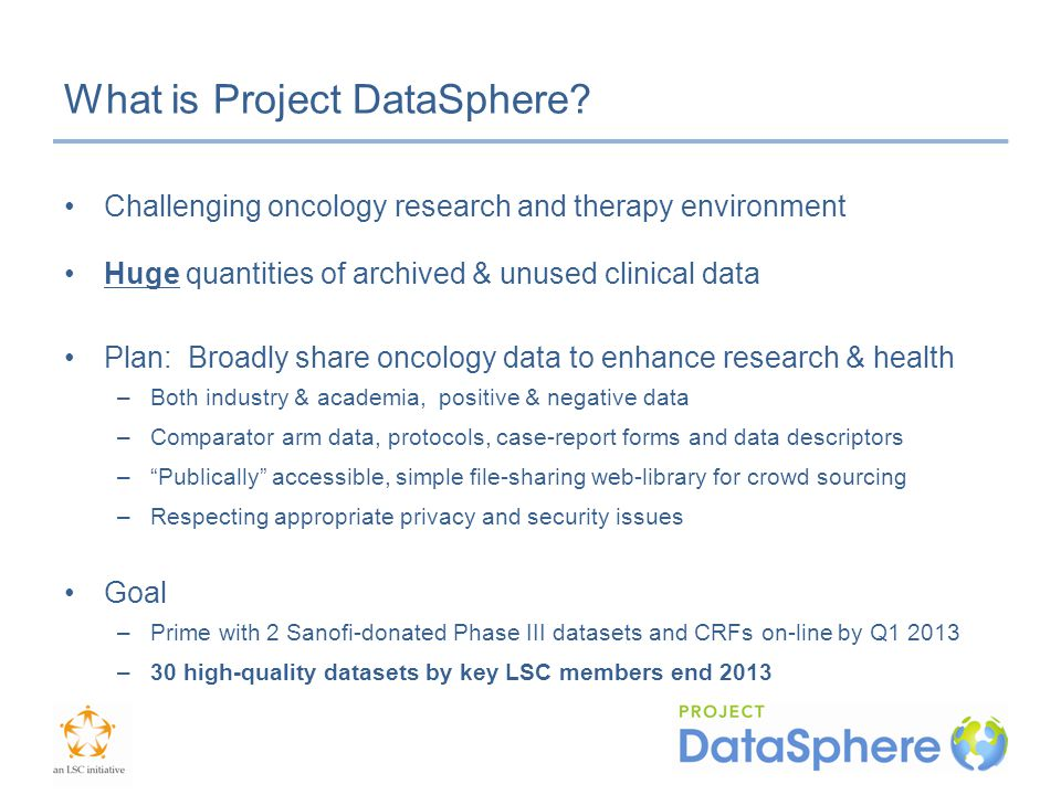 What is Project DataSphere.