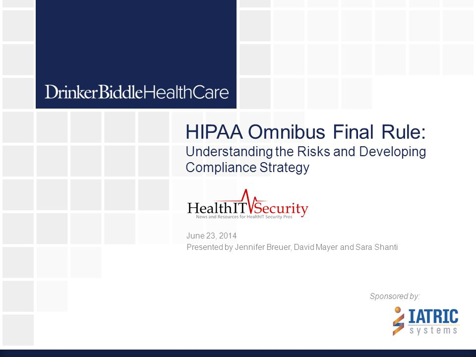 Security Risk Analyses 22  HIPAA requires BAs to conduct the same security risk analysis that a Covered Entity must undertake  Covered Entities must: –Conduct an accurate and thorough analysis of the potential risks and vulnerabilities to the confidentiality, integrity and availability of the electronic protected health information held by the organization