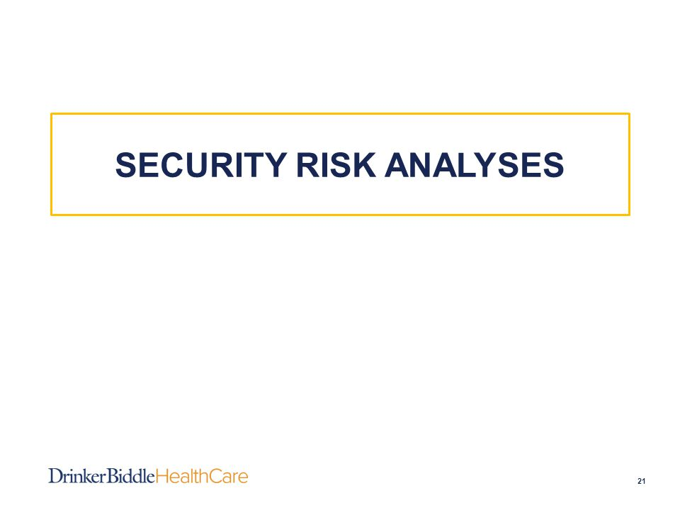 SECURITY RISK ANALYSES 21
