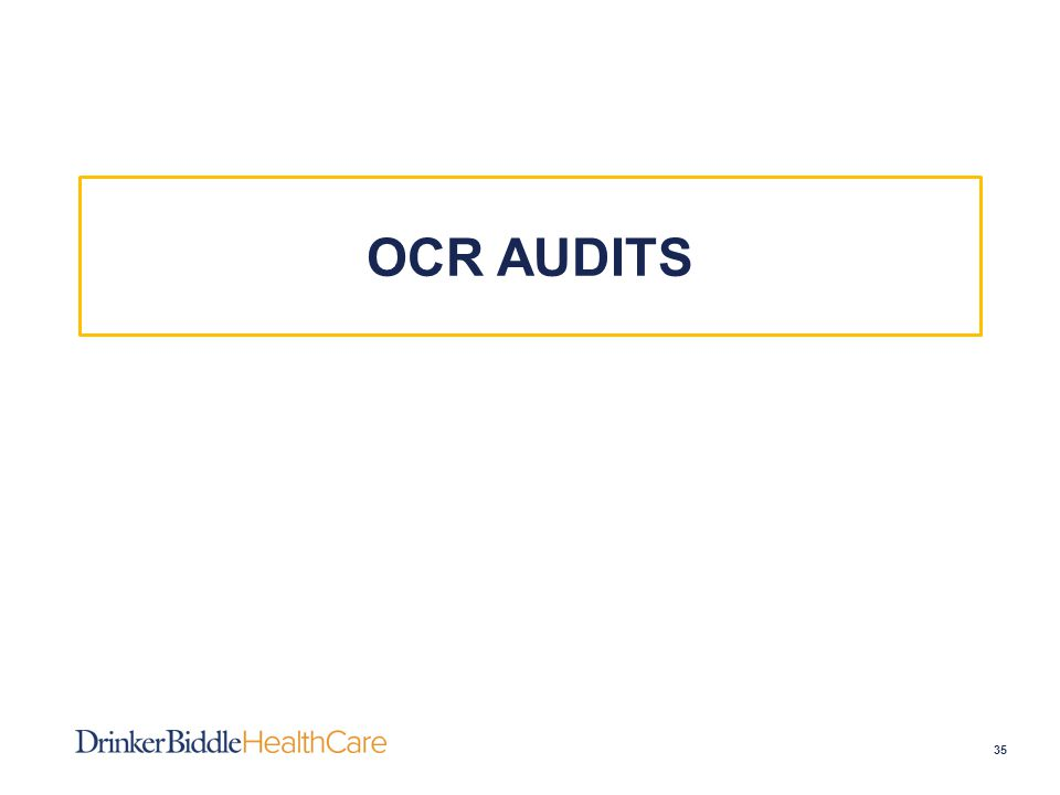 OCR AUDITS 35